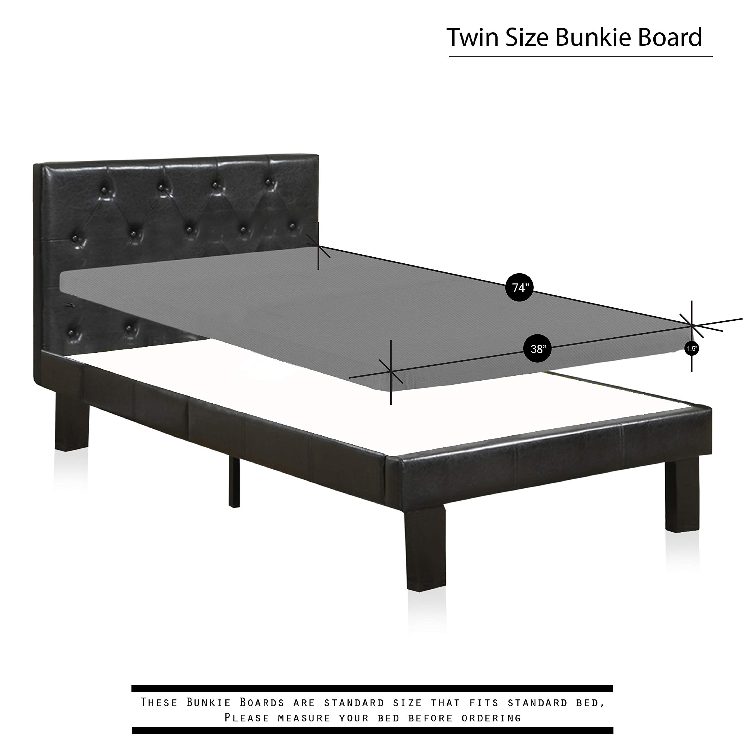 Spinal Solution, 2'' Fully Assembled Foundation Bunkie Board, Twin Size