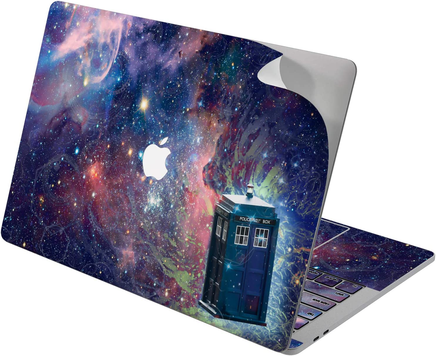 "Cavka Vinyl Decal Skin for Apple MacBook Pro 13"" 2019 15"" 2018 Air 13"" 2020 Retina 2015 Mac 11"" Mac 12"" Laptop Police Call Box Doctor Who Galaxy TV Show Sticker Design Protective Print Cover Movie"