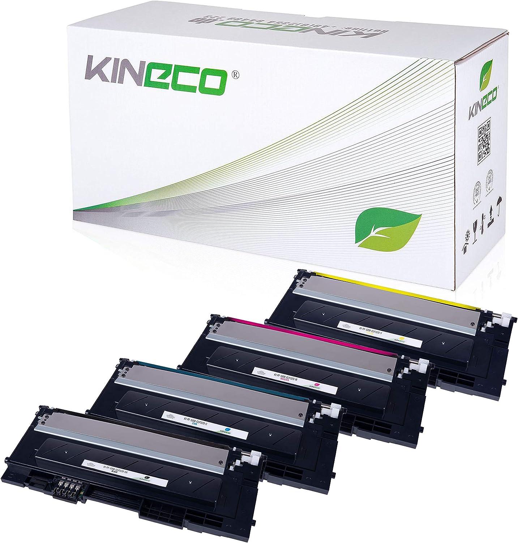 4 Toner Kompatibel Mit Clp 320 Für Samsung Clp 325 Clx 3180 Clx 3185 Schwarz 2 500 Seiten Color Je 2 000 Seiten Bürobedarf Schreibwaren