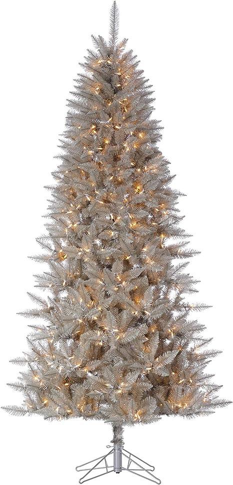 Amazon Com Vickerman Platinum Fir Artificial Christmas Trees 14 X 72 Silver Home Kitchen