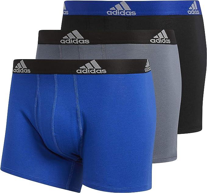 atmósfera Orientar ambulancia  adidas Men's Men's Stretch Cotton Boxer Trunk (3-pack) Underwear: Amazon.co.uk:  Clothing