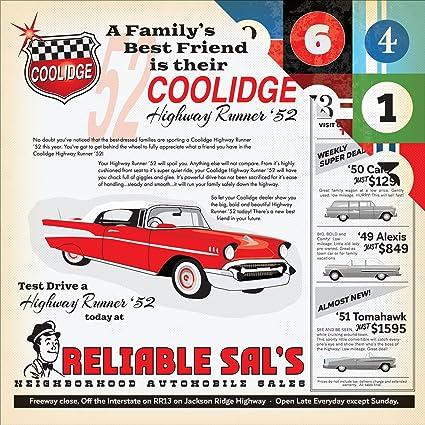 Carta Bella Cartopia Paper 12x12 Car Advertisement 25 Piece