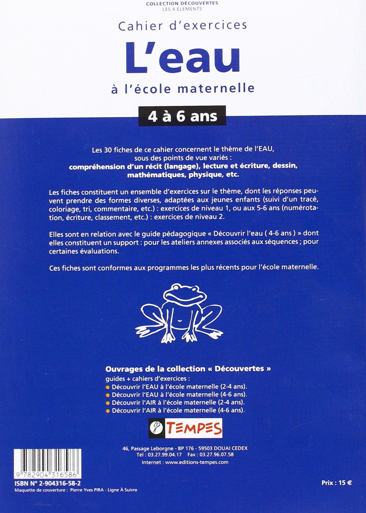 Coloriage Theme Ecole.Cahier D Exercices Sur Le Theme De L Eau A L Ecole Maternelle 4 6