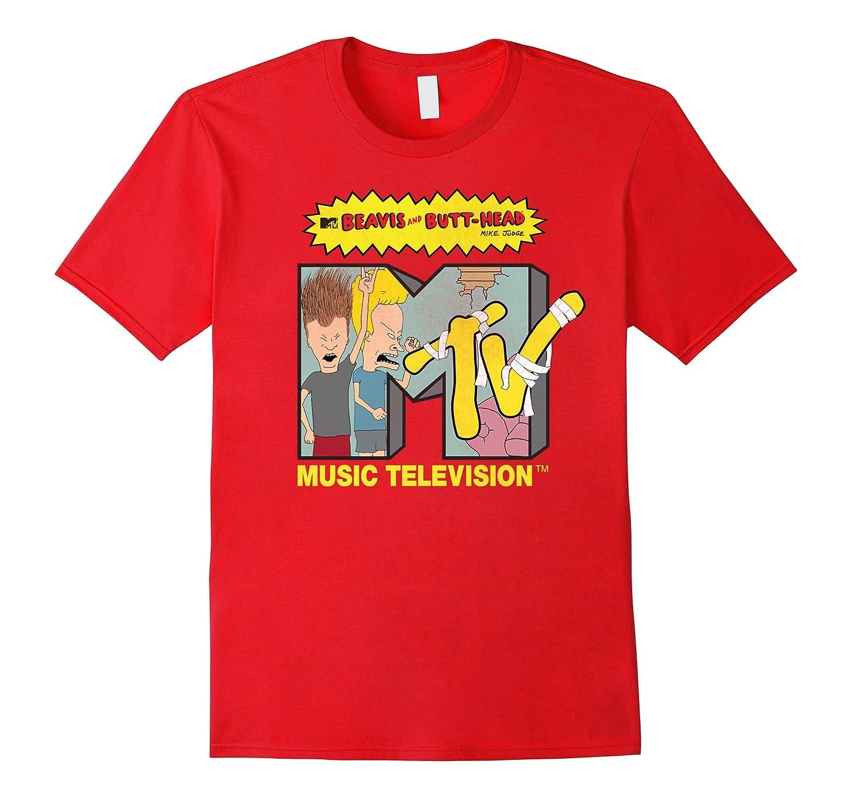 Mens Beavis MTV T Shirt Royal-Teeae