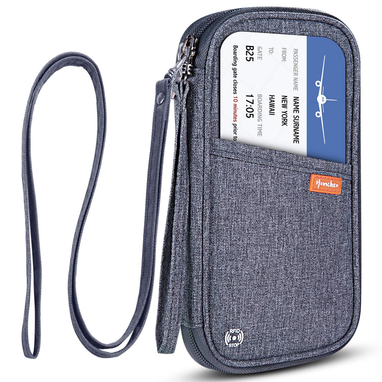 Travel Wallet Passport Holder Document Organizer RFID Clutch Purse