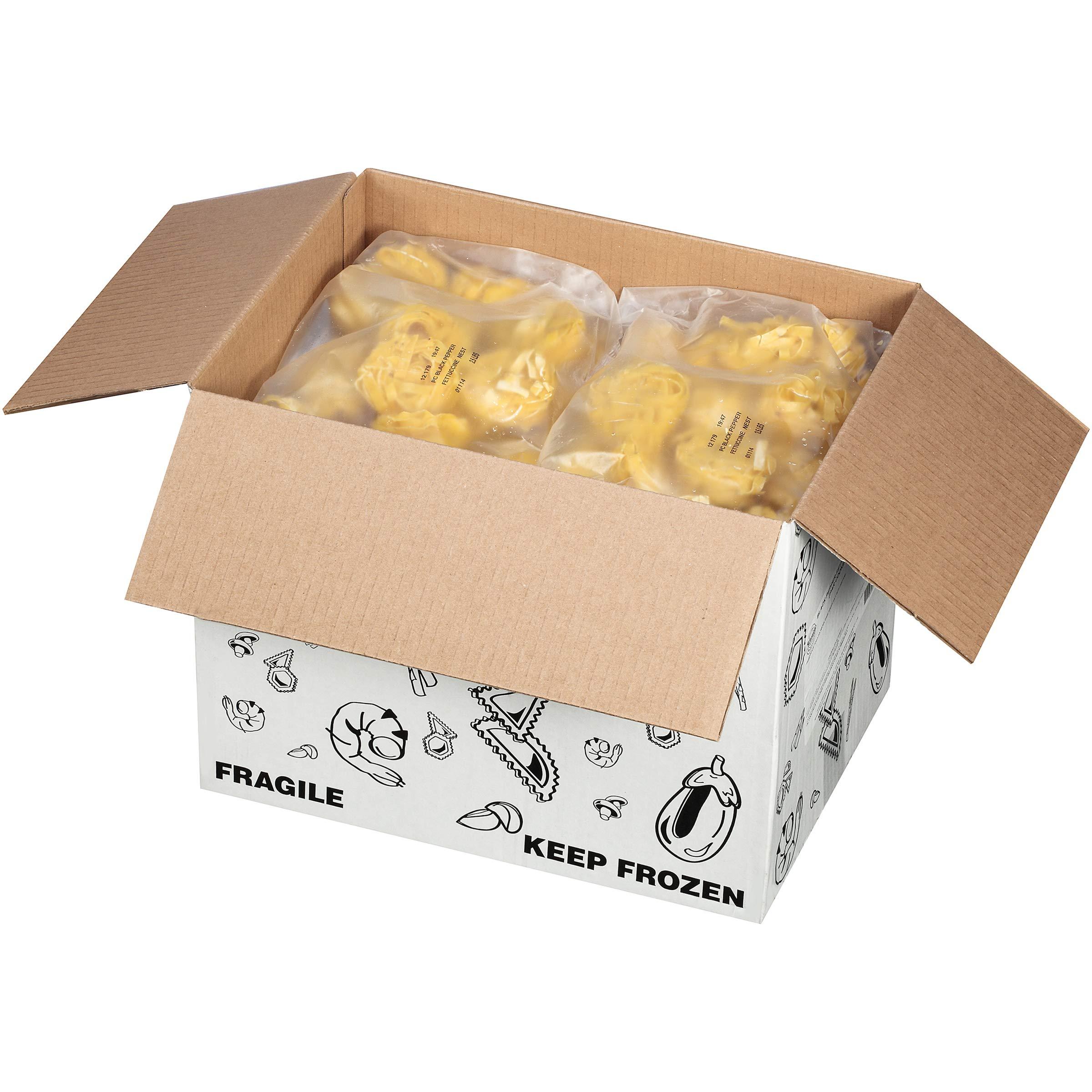 Joseph's Gourmet Pasta Black Pepper Fettucini Nests 2.5 lb (Pack of 6)