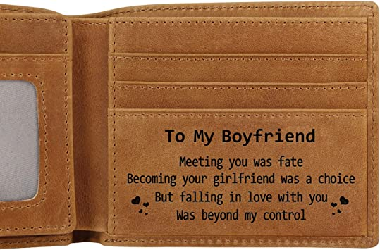 Engraved Genuine Leather Men Wallet The Perfect Personalized Gift To Boyfriend Birthday Wallets To Boyfriend Amazon Ca Luggage Bags