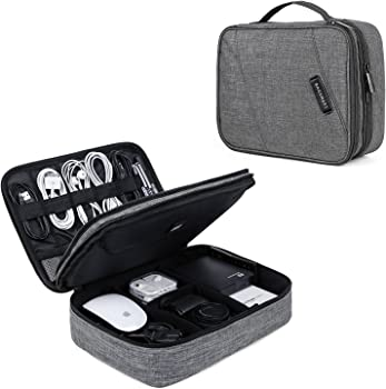 BAGSMART Universal Double Layer Cases Electronics Accessories Organizer