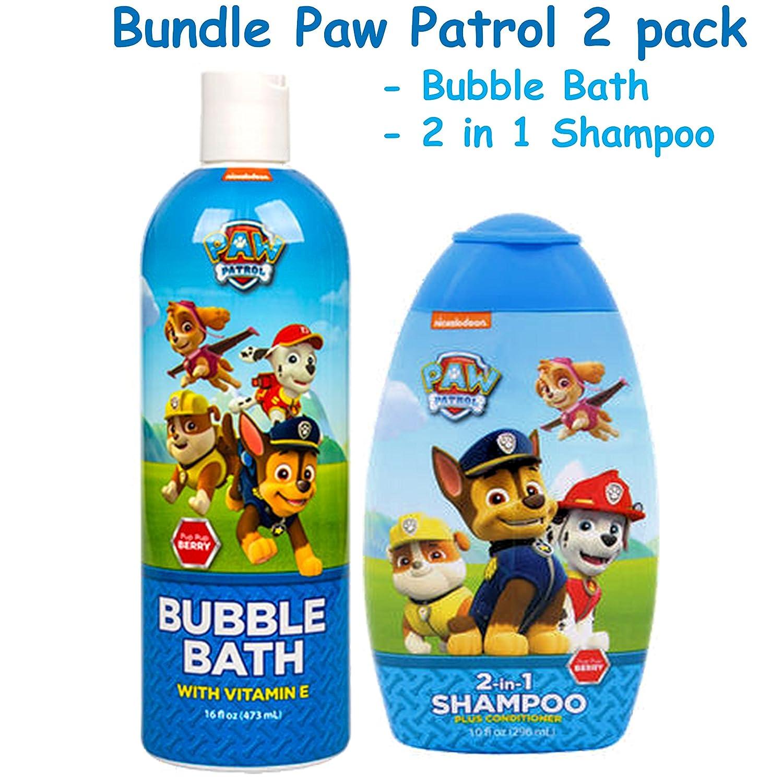 Paw Patrol BUNDLE Bubble Bath & 2 in 1 Shampoo plus Conditioner Blue Cross laboratories