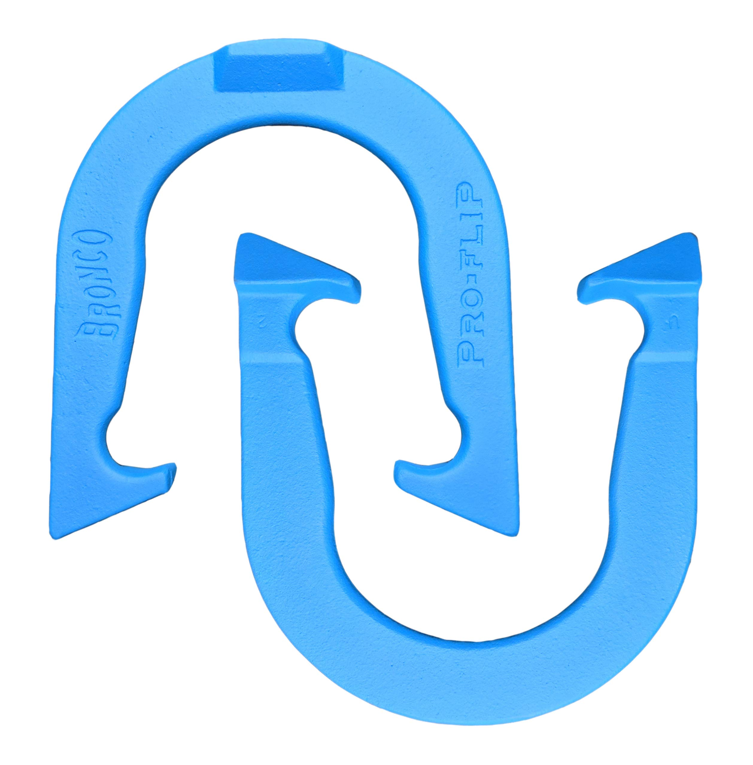 Bronco Pro-Flip Professional Pitching Horseshoes- Made in USA (Blue- Single Pair (2 Shoes)) by Thoroughbred Horseshoes