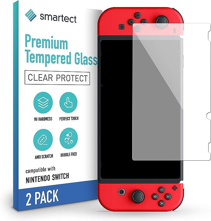 smartect Cristal Templado para Móvil Nintendo Switch 2019/2018 / 2017 [2 Unidades] - Protector de pantalla 9H - Diseño ultrafino - Instalación sin burbujas - Anti-huella: Amazon.es: Electrónica