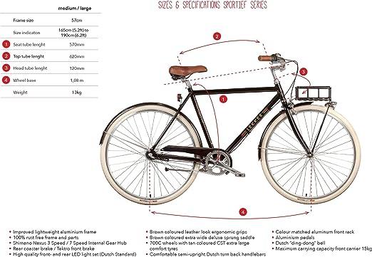 Lekker Bikes Sportief 3 Speed - Bicicleta para Hombre: Amazon.es: Deportes y aire libre