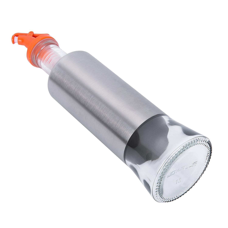 Alicemall Vinagrera Aceitera de Acero Inoxidable 400ml Dispensador de Condimentos Líquidos Botella para Aceite: Amazon.es: Hogar