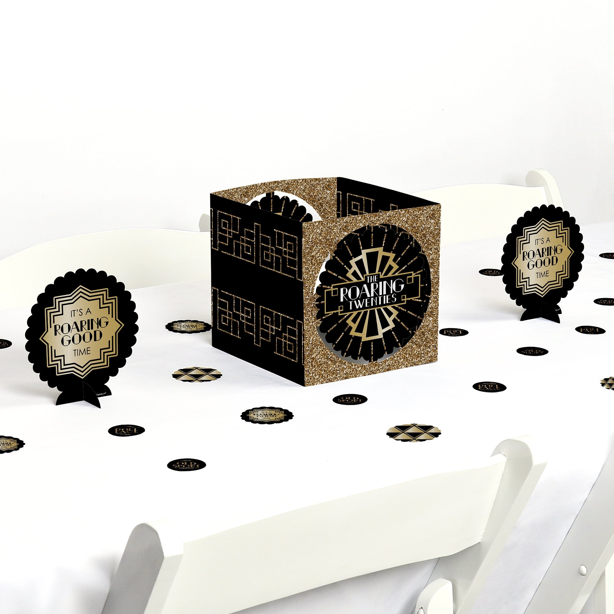 Roaring 20's - 1920s Art Deco Jazz Party Centerpiece & Table Decoration Kit by Big Dot of Happiness