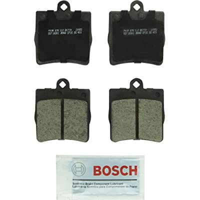 Bosch BC779 QuietCast Premium Ceramic Disc Brake Pad Set For Select Chrysler Crossfire; Mercedes-Benz C200, C230, C240, C280, CL200, CL230, SLK230, SLK280, SLK300, SLK320; Rear: Automotive