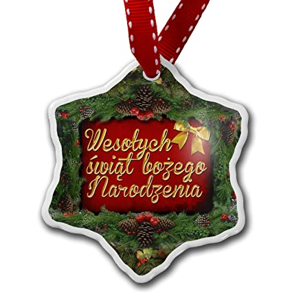 christmas ornament merry christmas in polish from poland neonblond