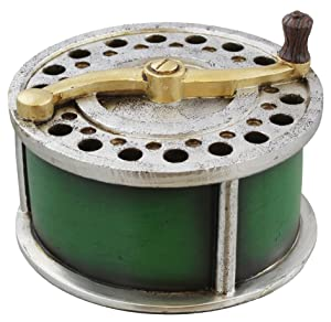Old River Outdoors Large Rustic Fishing Reel Trinket Storage Box - Fly Fishing Bass Trout