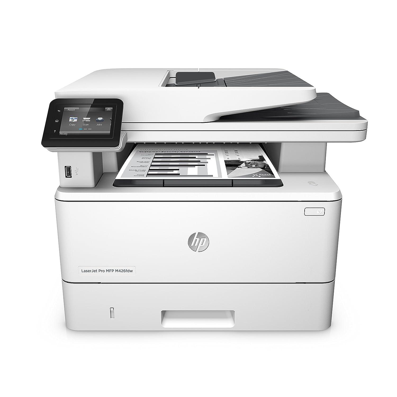 HP LaserJet Pro MFP M426fdw - Impresora láser monocromo (A4, hasta 38 ppm, 750 a 4000 páginas al mes, USB 2.0 alta velocidad, Red Gigabit Ethernet 10/100/1000T, inalámbrica 802.11b/g/n)