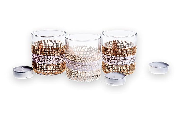 Candele da decorazione set portabicchieri in vetro candela per