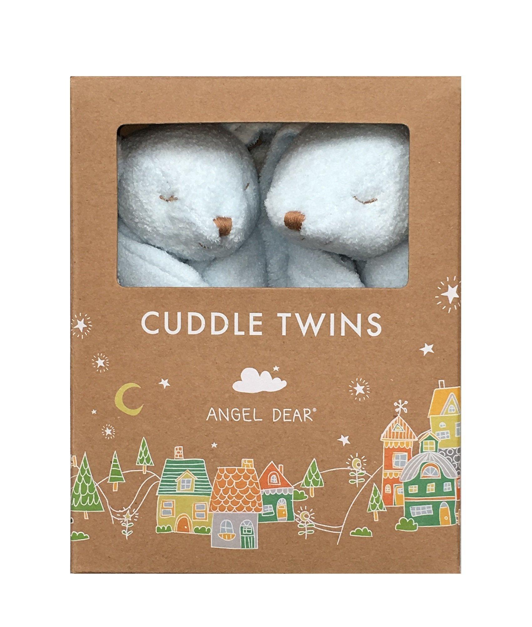 Angel Dear New Blue Bunny Twin Set Blankies Box.