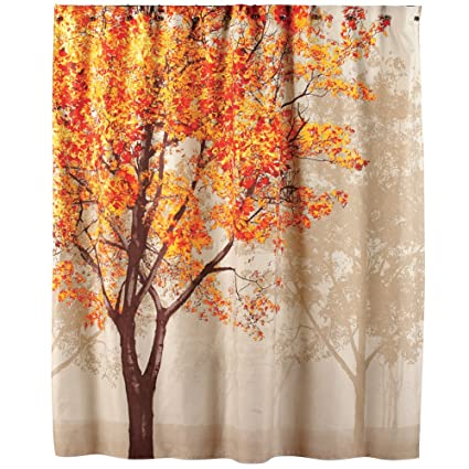 Collections Etc Colorful Autumn Tree Shower Curtain
