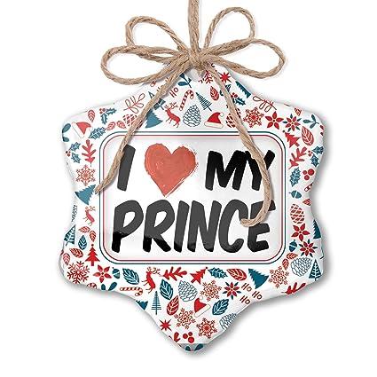 Prince Christmas Decorations.Amazon Com Neonblond Christmas Ornament I Love My Prince