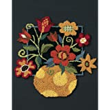 Dimensions Needlecrafts 73222 Punch Needle, Floral On Black