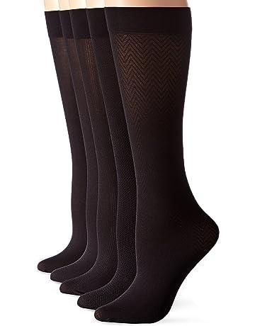 914792581245b Calvin Klein Women's 5 Pack Essentials Trouser Knee High Socks