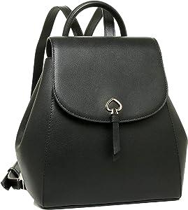 Kate Spade Adel medium flap Leather Backpack (Black)