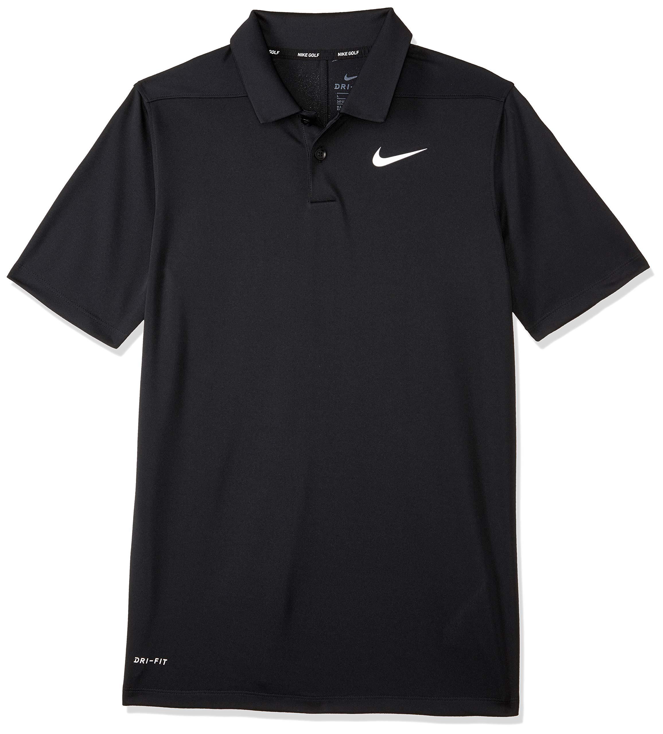 Nike Boy's Dry Victory Golf Polo (Black, Medium)