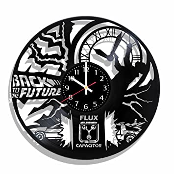 Back To The Future Reloj de pared hecho de Real Póster de pared vinilo Record, Back to the Future, Back to la futuro para: Amazon.es: Hogar