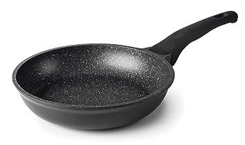 Lacor - 24126 - Sartén Black Eco Piedra Aluminio Fundido 26 cm - Negro