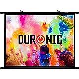 Duronic BPS100 /43 Ecran de Projection avec Barres et Crochets pour vidéoprojecteur – Toile de 100 Pouces ou 254 cm (203 x 152 cm)
