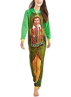 Elf Buddy The Womens Son Of a Nutcracker Pajama Union Suit One Piece Sleepwear