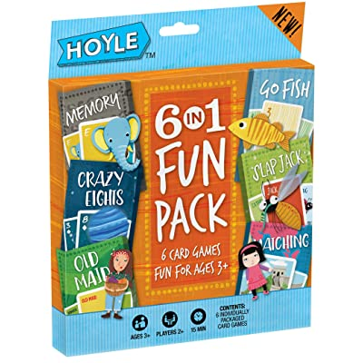 Hoyle Kid's 6 in 1 Fun Pack- Card Games : Playing Cards : Sports & Outdoors