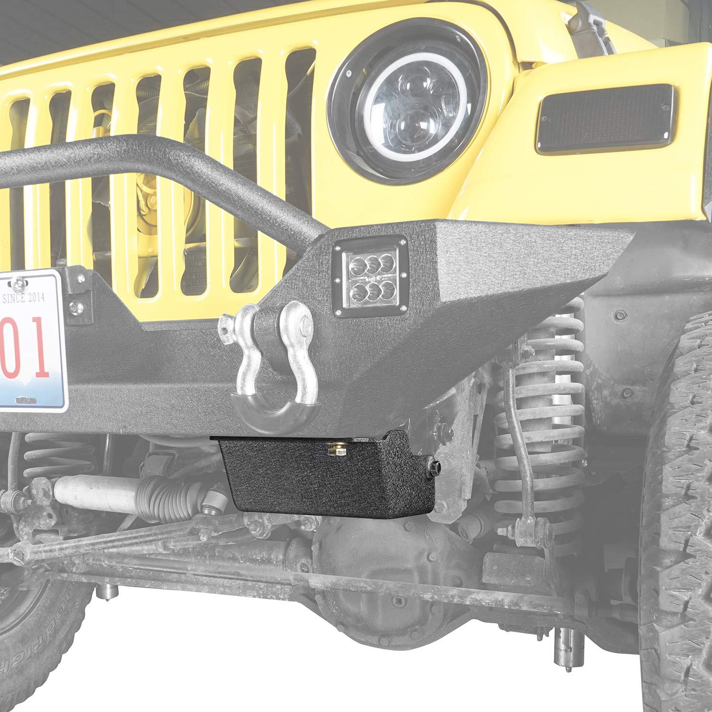 Hooke Road Steering Box Skid Plate Brace for 1997-2006 Jeep Wrangler TJ