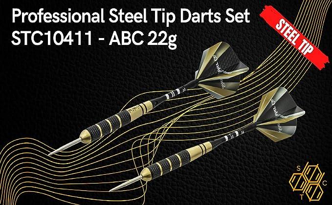 FixtureDisplays Steel tip Darts Set Dartboard Darts Competition Professional Shaft Flight 24PK 16871-FBA
