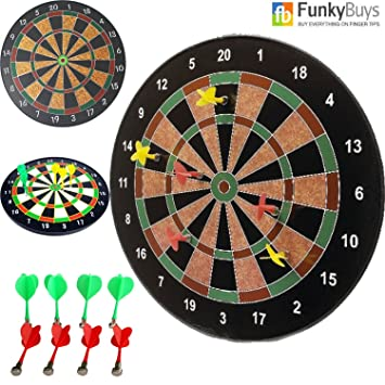 18 Official Size Magnetic Dartboard With 6 Darts Included Child