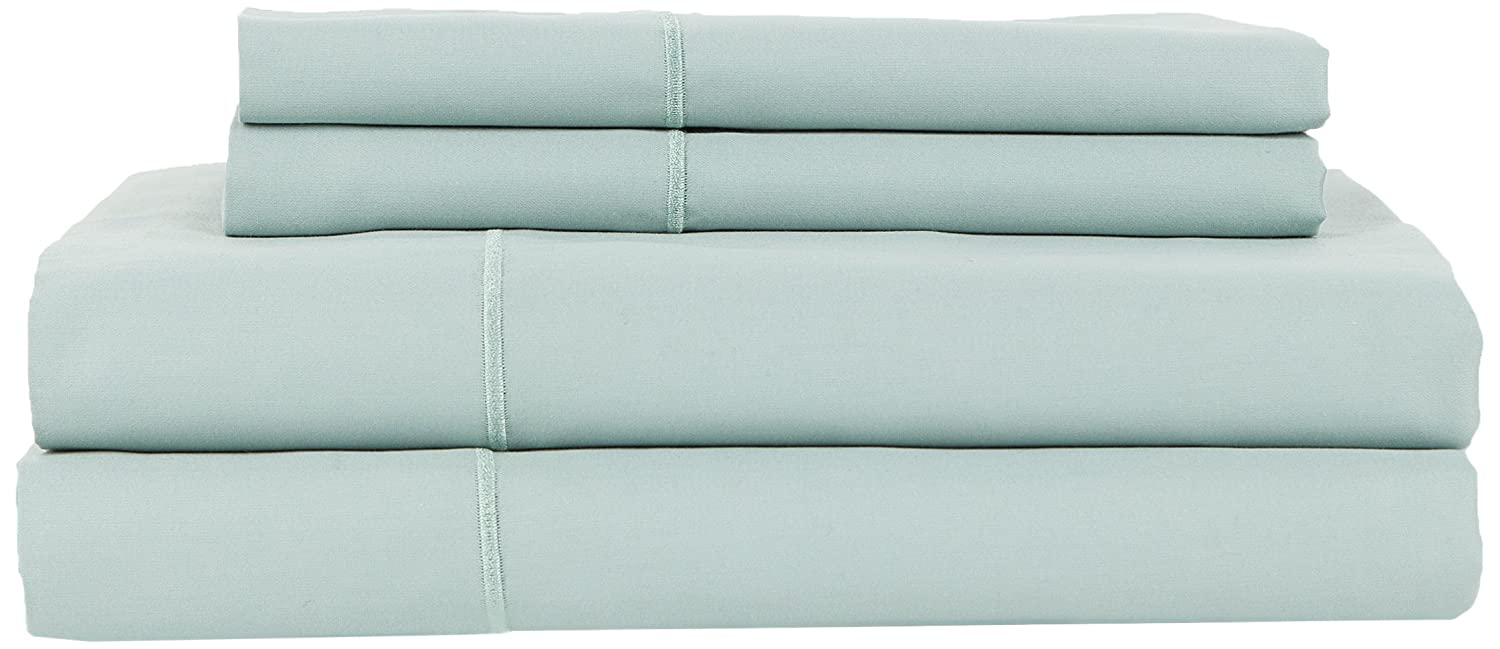 Queen Extra Soft-Breathable /& Cool Sheets-Hypoallergenic Gray Perthshire Platinum Collection T840 100-Percent Egyptian Cotton Sateen Set with Solid Hem