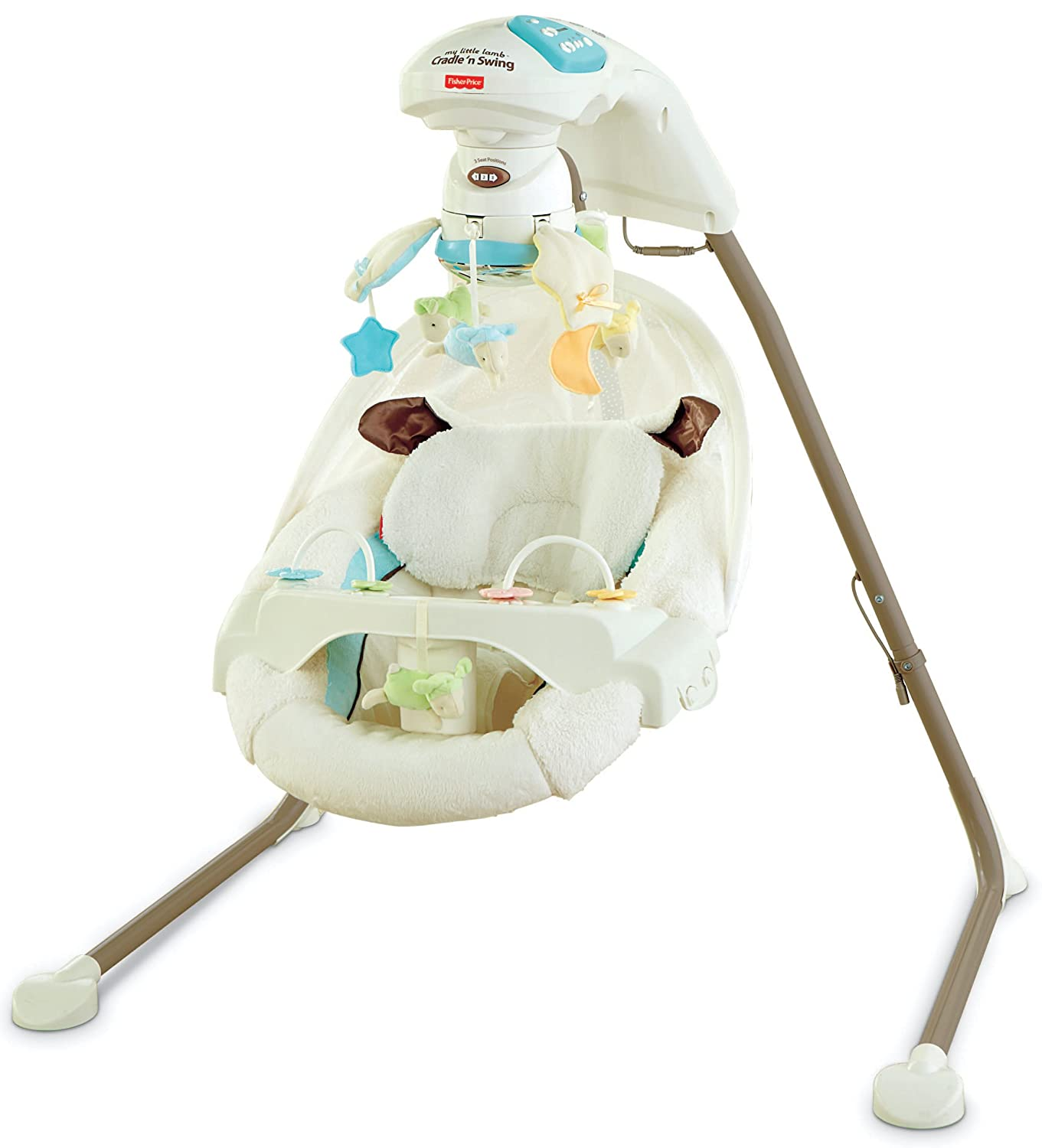 Amazon.com : Fisher-Price Cradle 'n Swing with AC Adapter, My Little Lamb :  Stationary Baby Swings : Baby