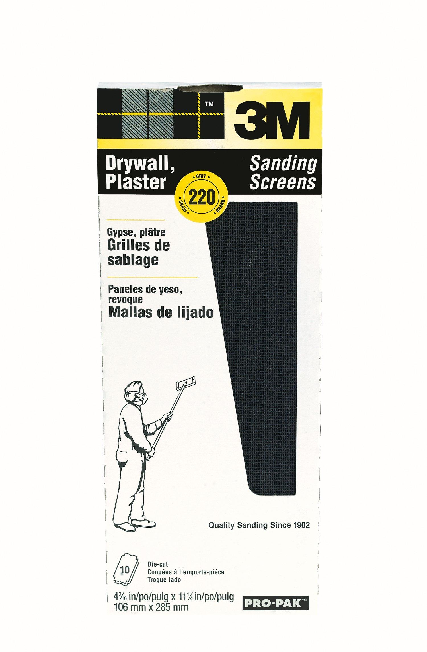 3M 99436 Drywall Sanding Screens Pro-Pak, 220-Grit, 10-Pack by 3M