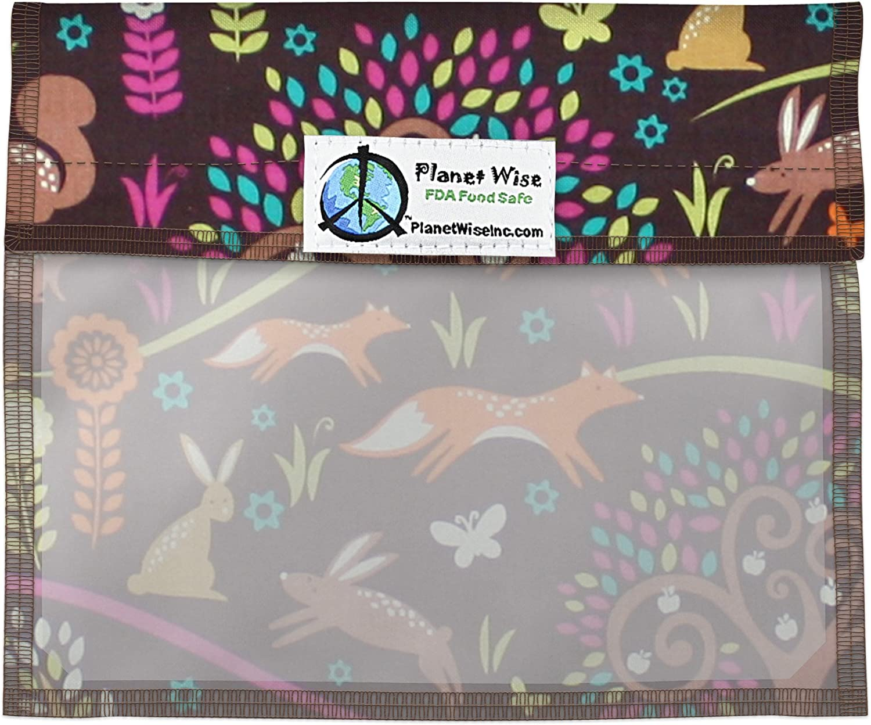 Planet Wise Window Sandwich Bag, Jewel Woods