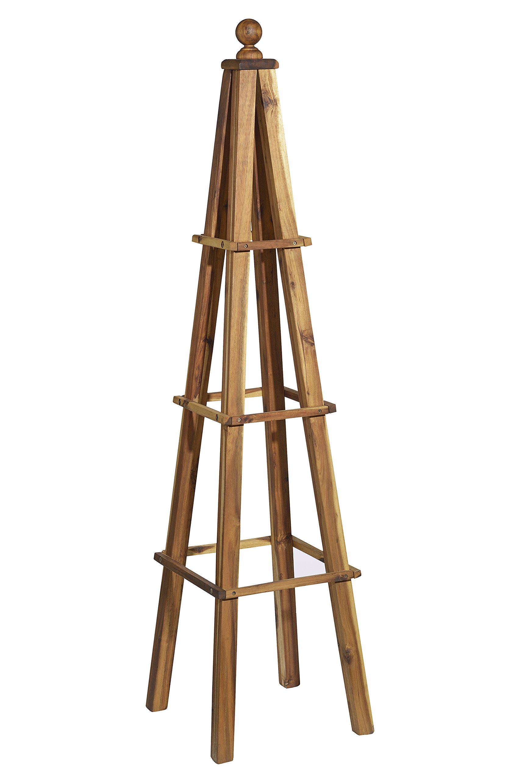 GARDENGOODZ 9/802/1 Wood, Obelisk, Acacia