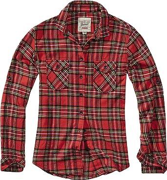 Brandit Amy Tartan Mujer Camisa de Franela Rojo/Negro, innen ...
