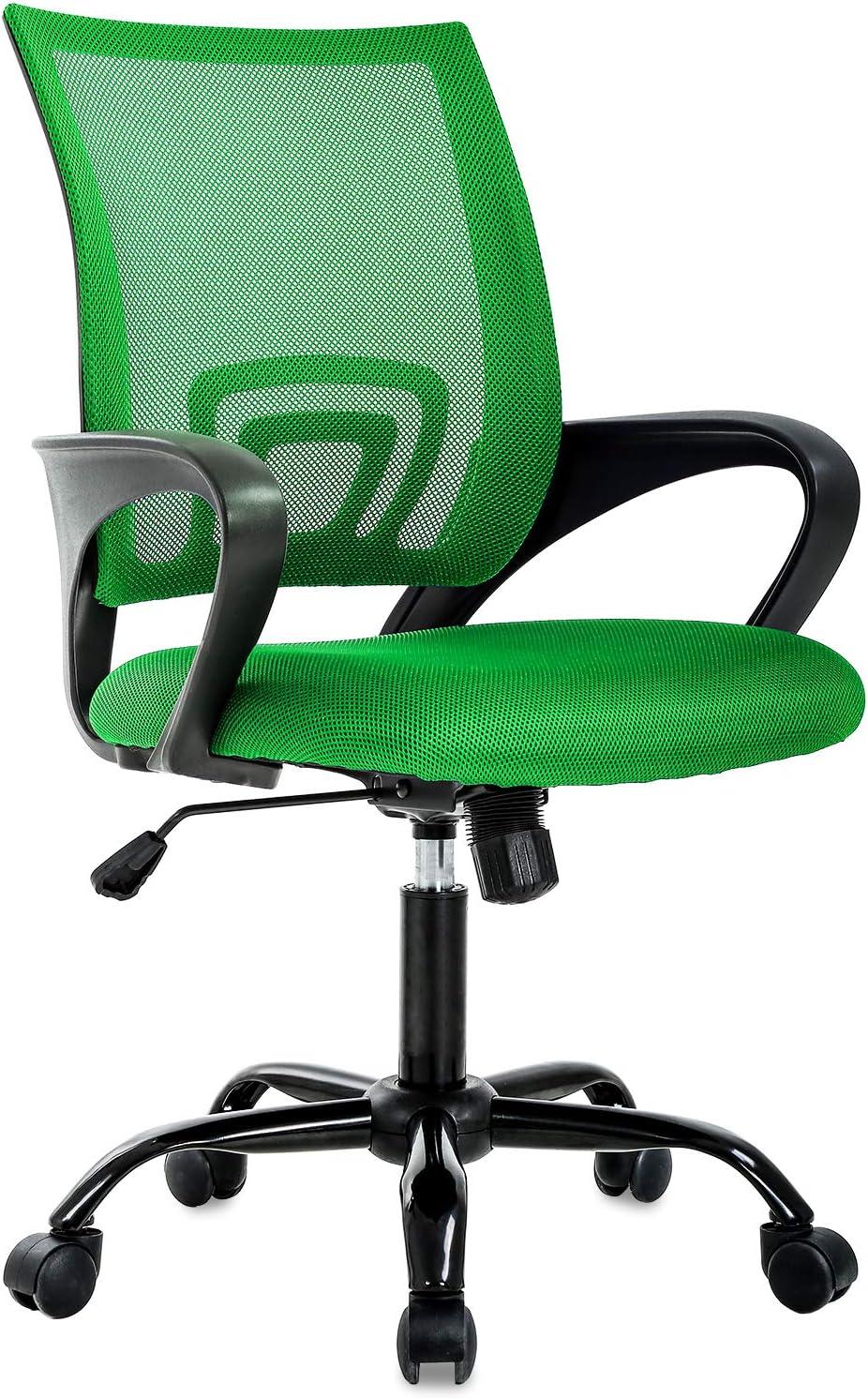 Ergonomic Office Chair Desk Chair Mesh Executive Computer Chair Lumbar  Support for Women&Men, Green