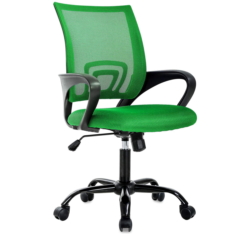 BestOffice Ergonomic Office Desk Mesh Executive Computer Chair Lumbar Support for Women Men, Green
