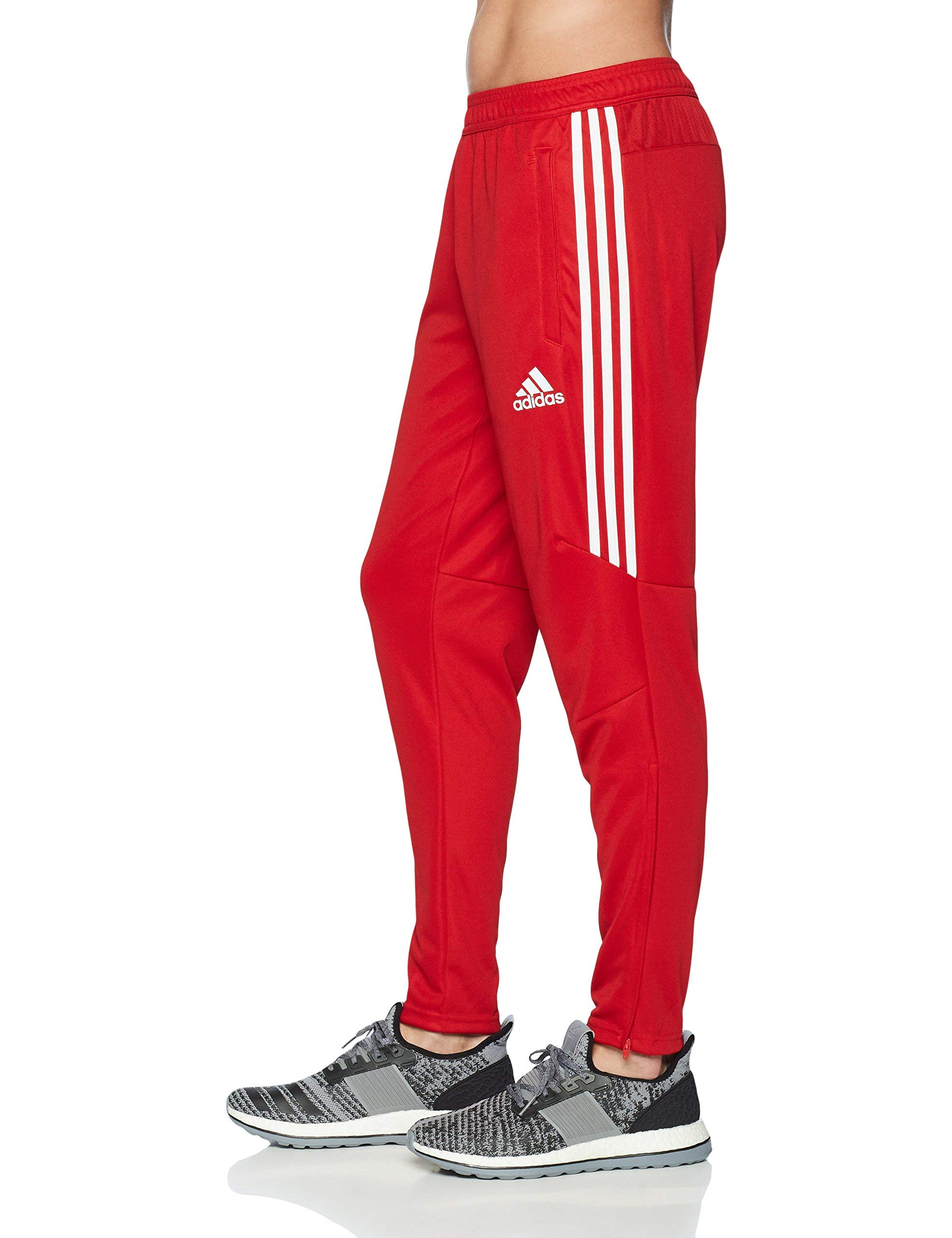 adidas Men's Soccer Tiro 17 Pants, Small, Power Red/White by adidas (Image #3)