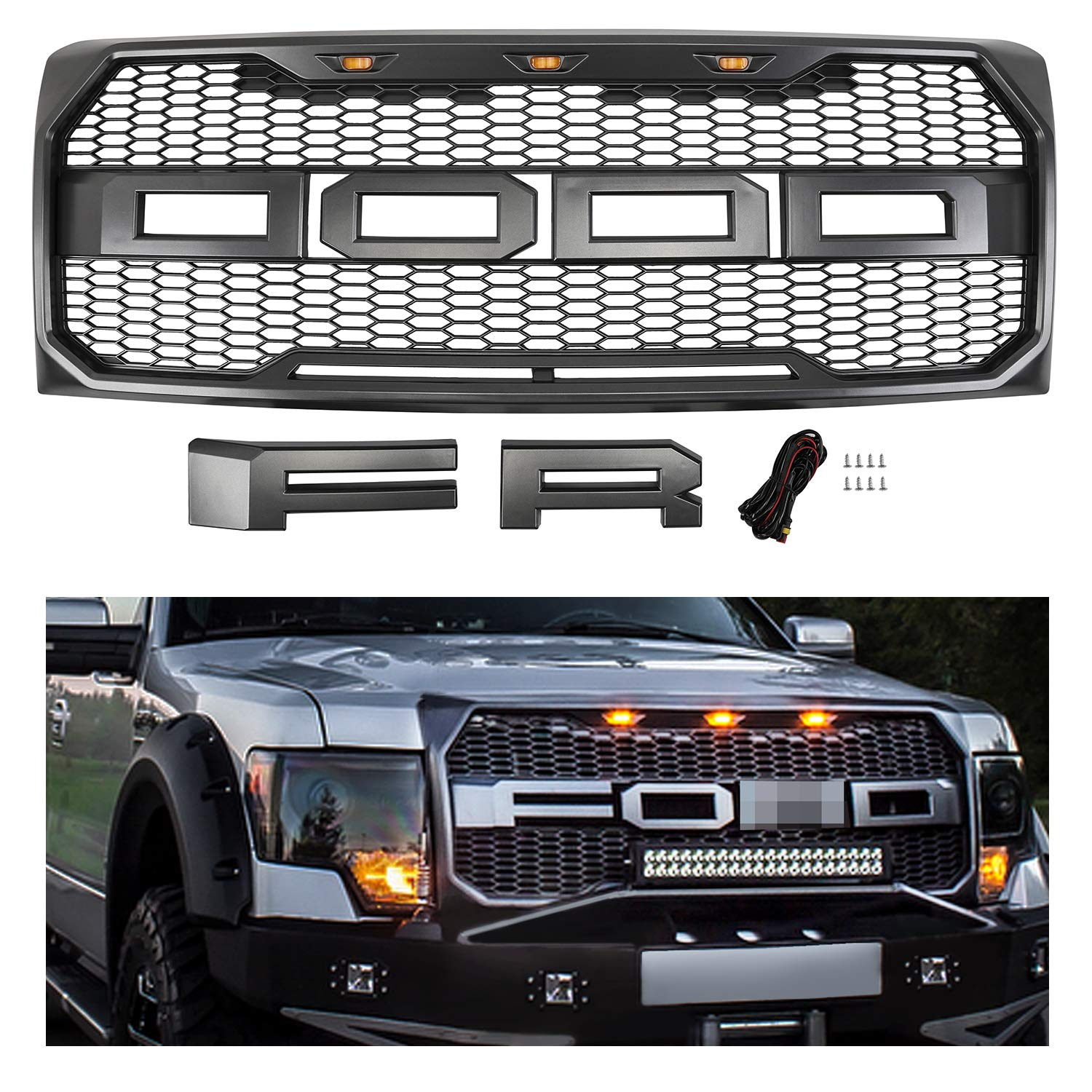 Amazon Com Seven Sparta Front Grill For Ford F150 09 14 Raptor