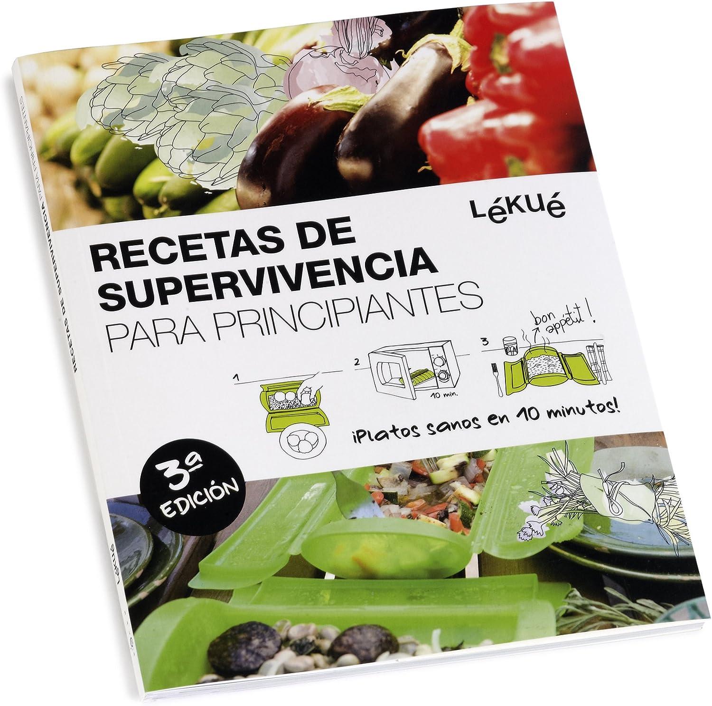 Compra Lékué - Estuche de vapor, Con bandeja y kit principiantes en Español, Rojo, 1 - 2 personas (650 ml) en Amazon.es