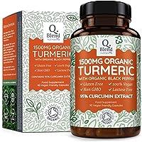 Curcuma E Piperina Biologica 1500mg - Capsule con 1350 mg di curcuma organica e 150 mg di estratto di curcuma bio (estratto di curcumina 95%) per porzione - Prodotto nel Regno Unito da Nutravita